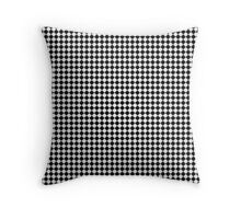 Classic Black & White small Diamond Check Board Pattern Throw Pillow