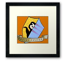 Laziness coat of arms Framed Print