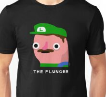 The Plunger  (white text) Unisex T-Shirt