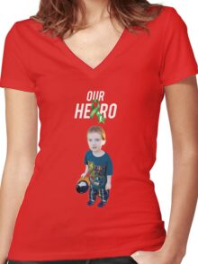 Our Hero - Cerebral Palsy Awareness Women's Fitted V-Neck T-Shirt