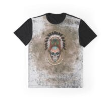 indian native Owl sugar Skull Graphic T-Shirt