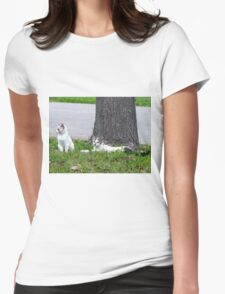 Just Hanging Around Womens Fitted T-Shirt