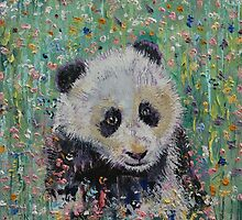 Panda Wildflowers by Michael Creese