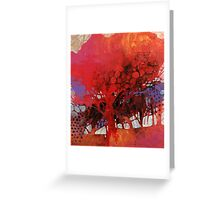 The big red tree in my courtyard Greeting Card