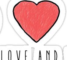 Peace, Love and Veggies Sticker