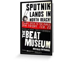 Sputnik Beat Poster Greeting Card