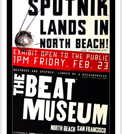 Sputnik Beat Poster Sticker