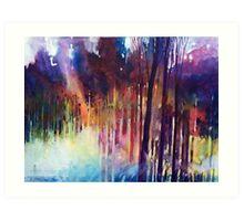 Lampi di luce nella forest Art Print