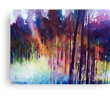 Lampi di luce nella forest Canvas Print