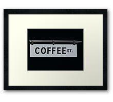 Coffee St. Framed Print