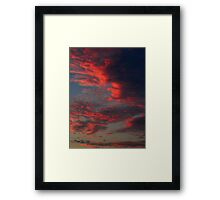 Beautiful colors...Before the Storm Framed Print