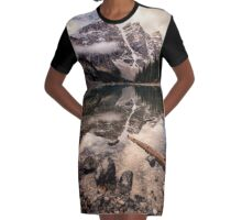 Moraine Lake Serenity Graphic T-Shirt Dress