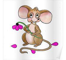 Loves me Loves Me Not Mouse Poster