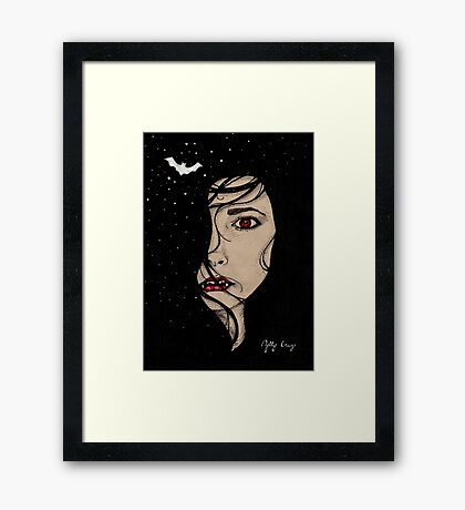 Vampire Red-eye Framed Print