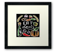 Eat Local Framed Print