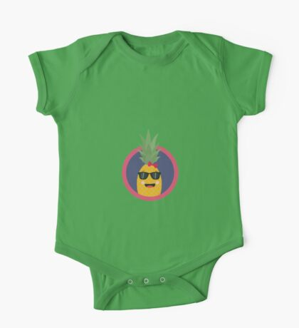 Cool pineapple with sunglasses One Piece - Short Sleeve