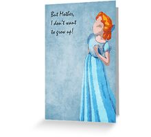 Peter Pan inspired design (Wendy) Greeting Card