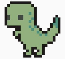 Cute Pixel T-rex Kids Tee