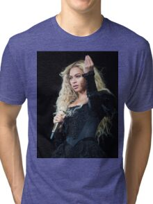 BOW DOWN  FOR QUEEN BEY Tri-blend T-Shirt