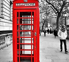 Red telephone box by pinoyborian