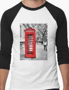 Red telephone box Men's Baseball ¾ T-Shirt