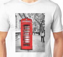Red telephone box Unisex T-Shirt