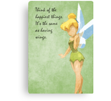 Peter Pan inspired design (Tinkerbell). Canvas Print