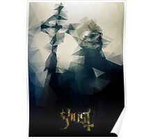 Ghost Polygon Poster Poster