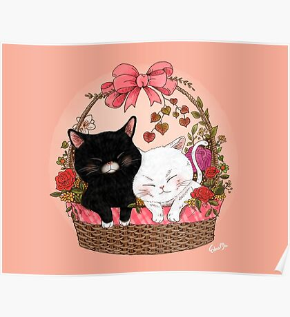 Basket of kittens Poster