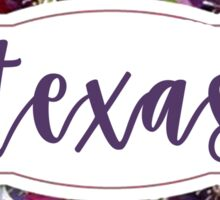Texas Floral Sticker