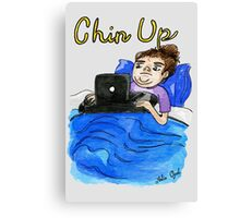 Chin Up Watercolor Painting Canvas Print