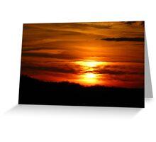 Western New York Sunset Greeting Card