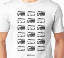 Volkswagen T1 Deluxe Bus (black & white) Unisex T-Shirt