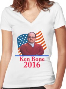Ken Bone 2016 Women's Fitted V-Neck T-Shirt