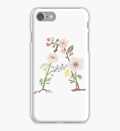 Botanical Letters A iPhone Case/Skin