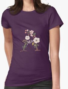 Botanical Letters A Womens Fitted T-Shirt