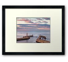 Whitby at Sunset Framed Print