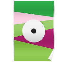 Color Eye Purple and Green Poster
