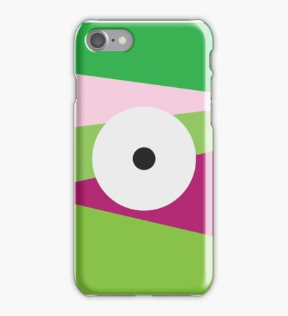 Color Eye Purple and Green iPhone Case/Skin