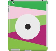 Color Eye Purple and Green iPad Case/Skin
