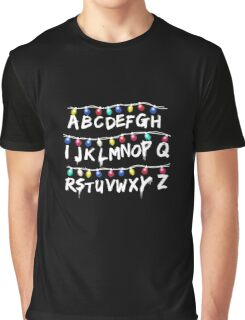 Strange Lights Shirt: Horror Christmas Things T-Shirt Graphic T-Shirt