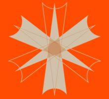Symmetrical Geometric Design #8 - orange dart Kids Tee