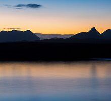 Assynt Mountains at Dawn by derekbeattie