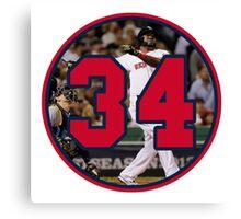 David Ortiz Big Papi 34 Home Run Canvas Print