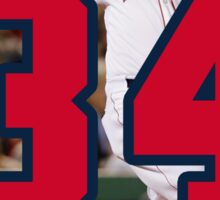 David Ortiz Big Papi 34 Home Run Sticker