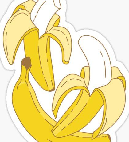 Banana pattern on turquoise background Sticker