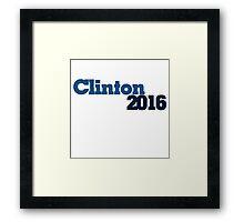 Clinton 2016 Framed Print