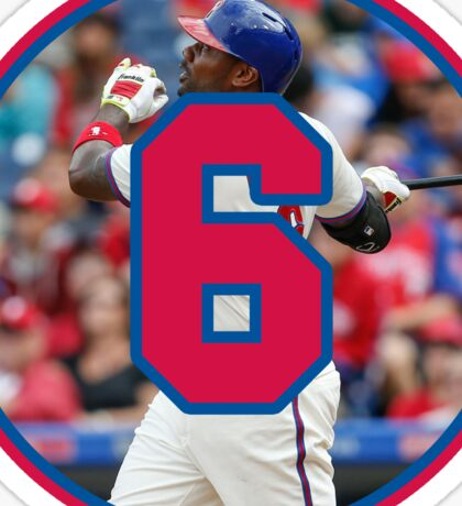 Ryan Howard Home Run Number 6 Sticker