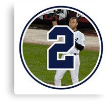 Derek Jeter Yankees Number 2 Canvas Print