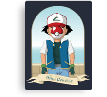The Son of Pokeball Canvas Print